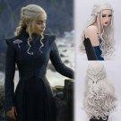 Dragonmothe Daenerys Targaryen dany cosplay Halloween Party Fancy silver wigs