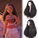Moana cosplay black wigs black women's  long corn perm curly hair  Halloween Party wig