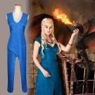 Women's Suit for Game of Thrones  Daenerys Targaryen dany cosplay  blue Halloween Costume