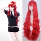 Land of the Lustrous Padparadscha cosplay Party Comic-Con 110cm length red Curly hair Anime wigs