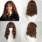 Harry Potter Hermione cosplay party or Available at ordinary timesn deep brown Curly hair wigs