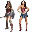 women's Suit for Wonder Woman Diana Prince cosplay hot sexyLeather armor Halloween Party Costume