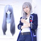 IDOLiSH7 YUKI cosplay Halloween Party Comic-Con gray and a little white short Anime wigs