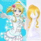 LoveLive! Eli Ellie cosplay originating Halloween Party Comic-Con blond ponytail Anime wigs