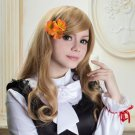 APH Axis Powers Hetalia Hungary Elizabeta cosplay Comic-Con Party light curly wigs