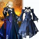 Women's lolita skirtr FGO darkness saber cosplay suit Evening dress Halloween Costume