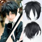 Sword Art Online Kirigaya Kazuto Kirito Short Black Anime Cosplay Hair Wig