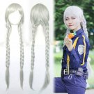 Zootopia optimistic rabbit Judy Hopps cosplay wig Double braids Comic-Con Party silver Anime wigs