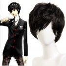 Persona 5 P5 Ren Amamiya|Akira Kurusu cosplay black short Comic-Con Party Anime wigs