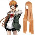 Persona 5 P5 Futaba Sakura cosplay wig orange long straight Comic-Con Party Anime wigs