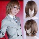 Persona 5 P5 明智 吾郎 Goro Akechi  cosplay wig brown short Comic-Con Party Anime wigs