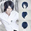 Persona 5 P5 Yusuke Kitagawa cosplay wig black blue mix short Comic-Con Party Anime wigs
