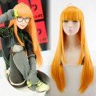 Persona 5 佐倉 双葉 Futaba Sakura cosplay wig orange long straight Comic-Con Party Anime wigs