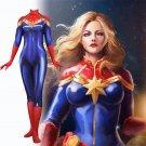 women's Ms. Marvel Binary Power cartoon cosplay suit Halloween Comic-Con party zentai Costume