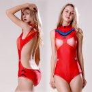 EVA Asuka Langley 惣流 明日香 lovely sexy cosplay one-piece swimsuit Siamese swimwear