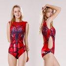 Women's Gwen Stacy|Spider-Gwen cosplay red ACG one-piece swimsuit Siamese swimwear