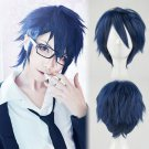 K Project Munakata Reisi cosplay wig dark blue short Comic-Con Halloween Party Anime wigs