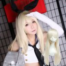 Kantai Collection 岛风  shimakaze cosplay wig beige straight Halloween Comic-Con Party Anime wigs