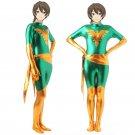 X-men Jean Grey Phoenix Cosplay zentai Bodysuit green enamel leather Halloween party Costume