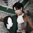 Attack on Titan Levi Ackerman cosplay wigs black short side parting Comic-Con Party Anime wig