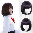 Girls Scum's Wish 安楽岡 花火 Yasuraoka Hanabi cosplay wigs purple short Party Anime wigs