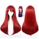 Girls Scum's Wish 絵鳩 早苗 Sanae Ebato cosplay wig red straigtht Party Anime wigs