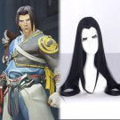 Overwatch ow Shimada Hanzo cosplay wig anime Party black Asia Ancient style wigs