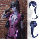 Overwatch ow Widowmaker cosplay wig deep purple Ponytail Halloween Comic-Con Party Anime wigs