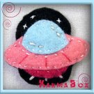 Felt Fuzzies UFO Alien Felt Hair Clip