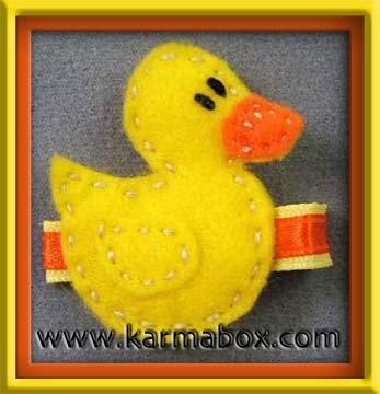 Felt Fuzzies Yellow Duck Felt Hair Clip