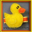 Felt Fuzzies Yellow Duck Felt Hair Clip