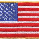 American Flag with Yellow Border Motorcycle Biker Vest Patch - Free Shipping