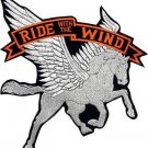 "Ride With Pegasus Motorcycle Patch  13"" x 12"""