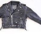 Kids Motorcycle Jacket with Side Laces - size LARGE
