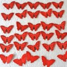 Butterfly Red Appliques 30 Pc.