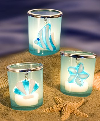 Sea Treasure Design Candle Holders Wedding Favors