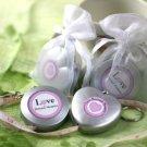 """""""Love Beyond Measure"""" Measuring Tape Keychain in Sheer Organza Bag Wedding Favors"""