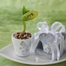 Love Grows On - Plantable Magic Bean in Handpainted Mini-Pot