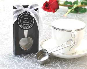 """Scoop of Love"" Heart Coffee Scoop in Elegant Gift Box Wedding Favors"