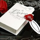 """A Love Story"" Red Glass Heart Bookmark in Book Box Wedding Favors"