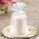 'Classic Elegance' Scented Votive in Love Embroidered Pouch Wedding Favors