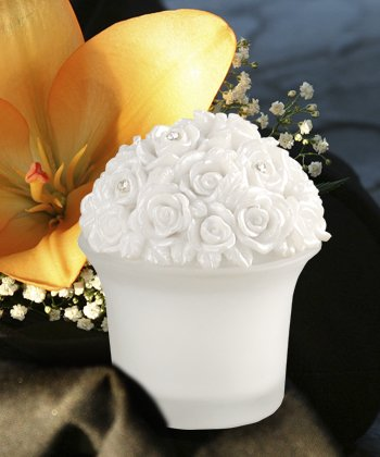 Bouquet Shaped Candle Wedding Favors