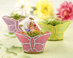 Set of 12 - Butterfly Garden Gift Baskets with Wildflower Seed Packets