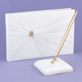 """""""To Thee I Wed"""" Ivory Guest Book"""