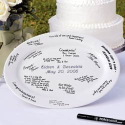"""13 3/4"""" Personalized Guestbook Platter"""