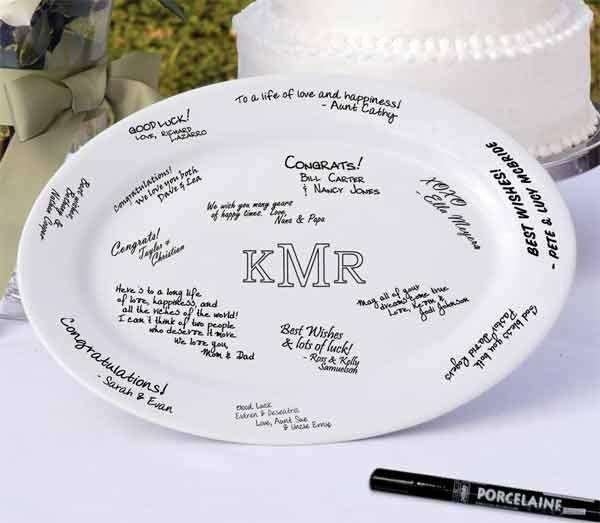 "13 3/4"" Monogram Platter - Personalized"