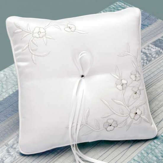 Vintage Sparkle Ring Pillow with Swarovski crystals