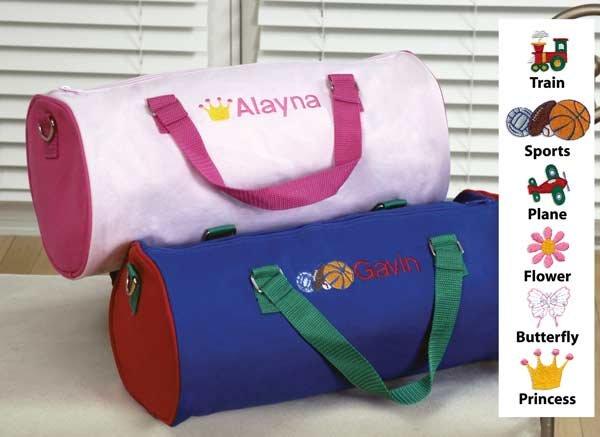 Children's Personalized Duffle Bag - Flower Girl or Ring Bearer Gift