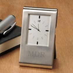 Personalized Desk Clock - Engraved