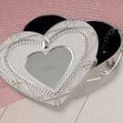 Personalized Pearl Heart Jewelry Box - Bridesmaid Gift